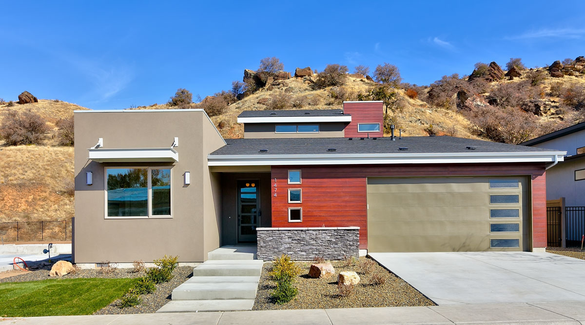 Photo of The Conrad, which is sold. This some features mid-century modern architecture and backs up to the Boise Foothills.